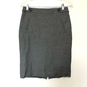 Loft Ann Taylor Womens Pencil Skirt gray
